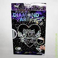 """Набор для творчества «DIAMOND ART» Бриллиантовый блеск """"Совы на ветке"""", DankO toys"""