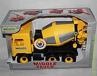 АвтоMiddle truck бетономешалка желтая в коробке, Wader