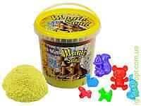 Пісок Magic sand жовтого кольору, з ароматом банану, у відрі 1 кг