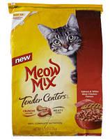 Meow Mix Tender Center Salmon & White Meat Chicken (Мяу Микс Тендер сентер) корм для взрослых кошек 6,12 кг
