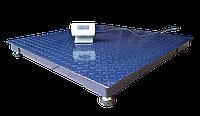 Платформні ваги 500 кг, 1т, 2т, платформа 1200х1200, фото 1