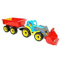 """Іграшка """"Трактор з ковшем і причепом ТехноК"""", арт. 3688 размер 64 х 19 х 16 см"""