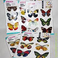 Наклейки бабочки, декор
