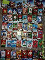 Открытка Дед Мороз, по 5 шт в пакете НМ28