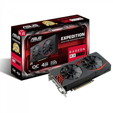 Видеокарта ASUS Radeon RX 570 Expedition OC 4GB (EX-RX570-4G), фото 2