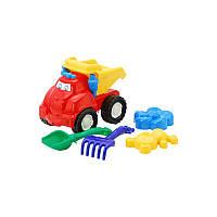 """Машина """"Смайл"""" самосвал №2: машинка, лопатка и грабельки (ЛГ4), две большие пасочки (П4) арт. 0138"""