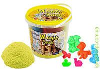 Пісок Magic sand жовтого кольору у відрі 1 кг