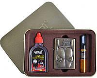 Подарочный набор SEXY 3в1 Зажигалка, бензин, мундштук №4713-7