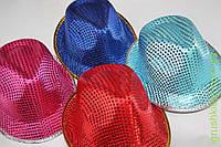 Шляпа детская блестящая с ободком