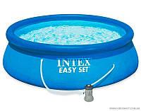 Intex Бассейн 28142 (1) /с насосом 220-240 В/, размером 396х84см, объем: 7290 л. при заполнении 80%, вес: 17,7 кг, бассейн семейный