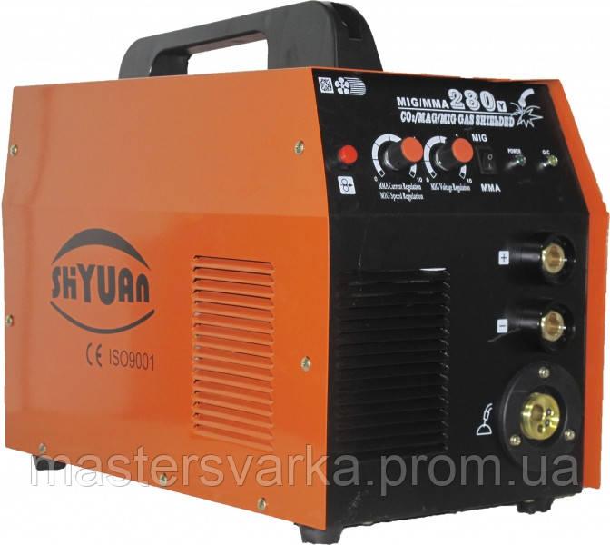 Сварочный инверторный полуавтомат Shyuan MIG 280 (MMA), газ. редуктор