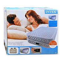 Велюр кровать 66962 высокая, двуспальная, с функцией памяти и встроенным насосом 220 V 152-203-51см