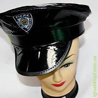 Кожаная полицейская кепка