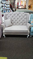 Небольшой кухонный диван на деревянных ножках (Розовый)