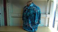 Мужская стильная рубашка большого размера батал Gissi с коротким рукавом  абстракция Одесса