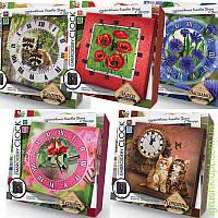 Набор для творчества «EMBROIDERY CLOCK»ЧАСЫ, вышивка гладью и бисером, DankO toys