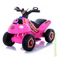 Толокар-мотоцикл M 3558E-8 2в1 , мотор 18W, аккум 6V7AH, ева, розовый