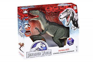 Динозавр Same Toy Dinosaur World зеленый со светом звуком  RS6124Ut