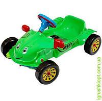 """Машина педальная """"Хэрби"""" 4 цвета (красная, синяя, зелёная, металик), НЕ музыкальный руль, KINDER WAY"""
