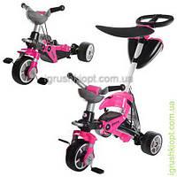 Велосипед детский три колеса,трансформер ,2в1,розовый