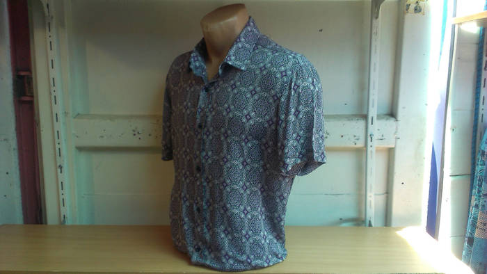 Мужская стильная рубашка большого размера батал Gissi с коротким рукавом Одесса