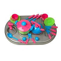 Плита с мойкой и посудой.в кор 04-410