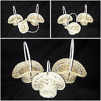 Набор корзинок из бамбука для интерьера, диам. 14-18 см., выс. 18-23 см., 125 гр.