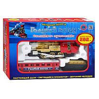 ЖЕЛЕЗНАЯ ДОРОГА 70133 (608) (24шт) Голубой вагон, муз, свет, дым, длина путей 282см, в кор-ке