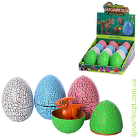 Яйцо 7см, динозавр (разборной), 12шт (4цвета) в дисплее