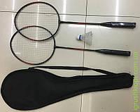Бадминтон 2 ракетки 65см, воланчик, 2 цвета, в чехле