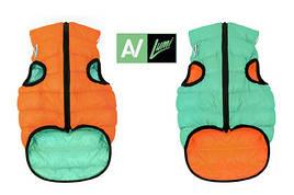 Одежда для собак Airy Vest Lumi XS 22, куртка, жилет салатово-оранжевый светящийся