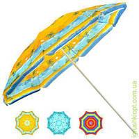Зонт пляжный , диаметр 1.8м с наклоном