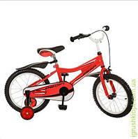 Велосипед PROFI детский 16д. каретка америк, полная защита цепи, пласт. Красный, синий, зеленый