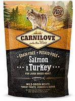 Корм Carnilove (Карнилав) Salmon Turkey Large Breed для взрослых собак крупных пород с лососем, 12 кг