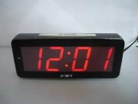 Часы электронные настольные VST 763T-1 Красная подсветка