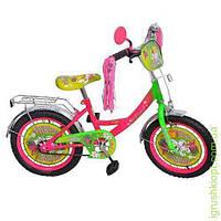 "Велосипед детский мульт 20"" Бабочка, кисточки на руле"