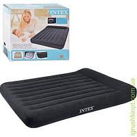 Двуспальный надувной матрац с подголовником и со встроенным электронасосом 220 V, INTEX