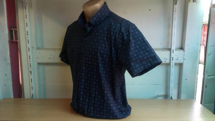 Мужская рубашка спорт DERGI с коротким рукавом приталенная