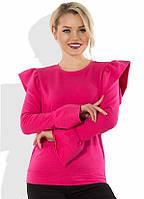 Ярко-розовый свитшот с оборками СК-499
