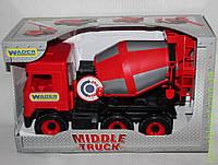 АвтоMiddle truck бетономешалка красная в коробке, Wader