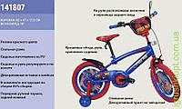 """Велосипед 2-х колес """"Супер-Мен""""18'' со звонком, зеркалом, с вставками в колесах, подножкой"""