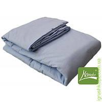 Комплект шерсть одеяло + подушка 90 х 120 (цв.голубой)