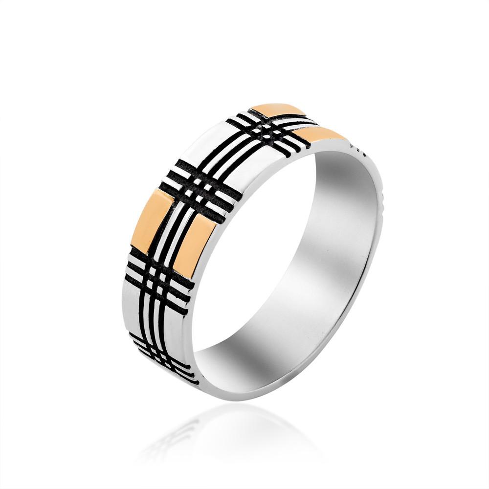 Кольцо из серебра и золота Юрьев 371к