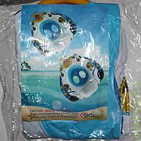 Лодочка для плавания с ножками и рулем-пищалкой 2806-3