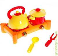 Набор посуды с газовой плитой ЮНiКА. 5 предметов.
