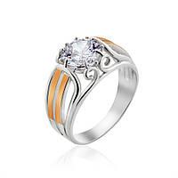 Кольцо с золотой пластиной Юрьев 374к