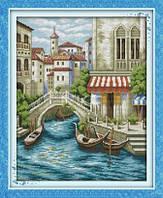 Венеция Набор для вышивки крестом с печатью на ткани 14ст