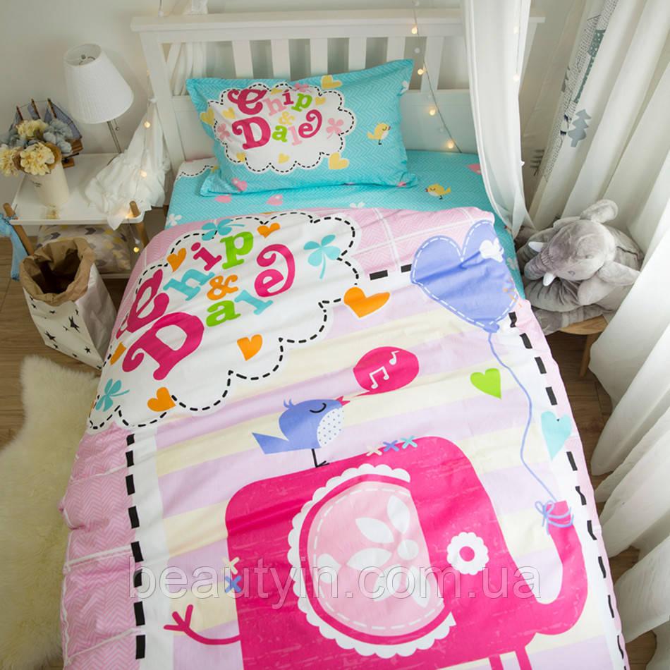 Комплект постельного белья Слон и птица (полуторный) Berni