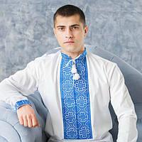 Вишиванка чоловіча з ручною вишивкою (різні варіанти) синій c16ff90c2e5fb