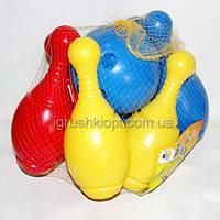 Боулинг детский ( кегли6 шт + шар 1шт ) MAX GROUP